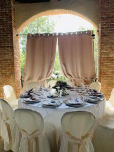 Tavolo tondo per matrimonio